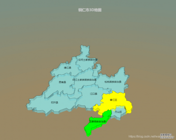 echarts-gl实现某市的3D地图