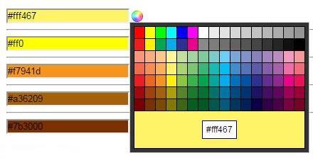 iColorPicker——基于jQuery的颜色选择器、颜色拾取器