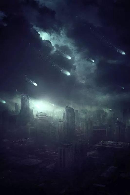 PS合成未日城市科幻场景教